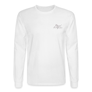 D.F.G White Men's Long Sleeve T-Shirt  - Men's Long Sleeve T-Shirt