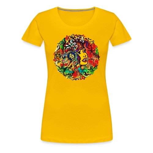 Futprnts Workshop Colorscope Songstress Women's T-Shirt - Women's Premium T-Shirt