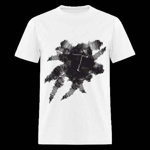 White Scribble T - Men's T-Shirt