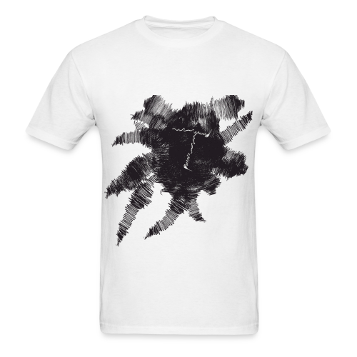 White Scribble T - Men's T-Shirt