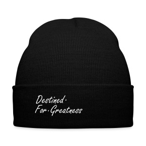 D.F.G Black Skull Cap  - Knit Cap with Cuff Print