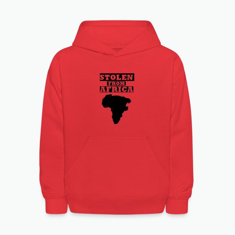 Stolen From Africa Kids Hoodie (Blue Logo) - Kids' Hoodie