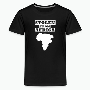 Stolen From Africa Kids Premium T-Shirt (White Logo) - Kids' Premium T-Shirt