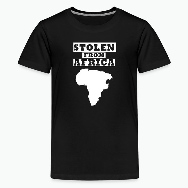 Stolen From Africa Kids Premium T-Shirt (White Logo)