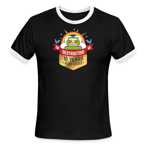 10 Years of Destructoid - Men's Ringer T-Shirt