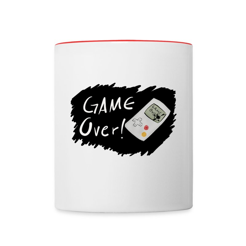 Game Over [Taza Blanca-Roja] - Contrast Coffee Mug