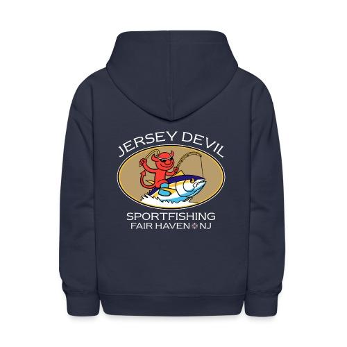 Jersey Devil Kid's Hoodie Navy: Tuna - Kids' Hoodie
