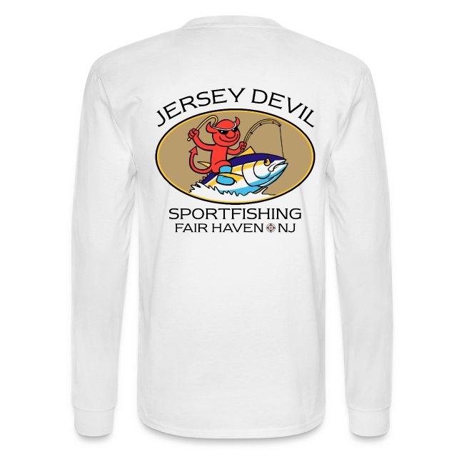 Jersey Devil Men's Long Sleeve White: Tuna