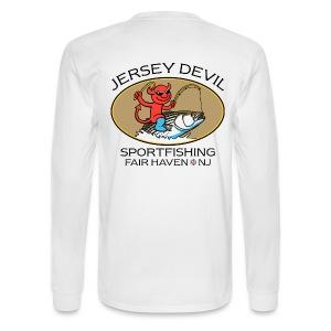 Jersey Devil Men's Long Sleeve White: Striper - Men's Long Sleeve T-Shirt