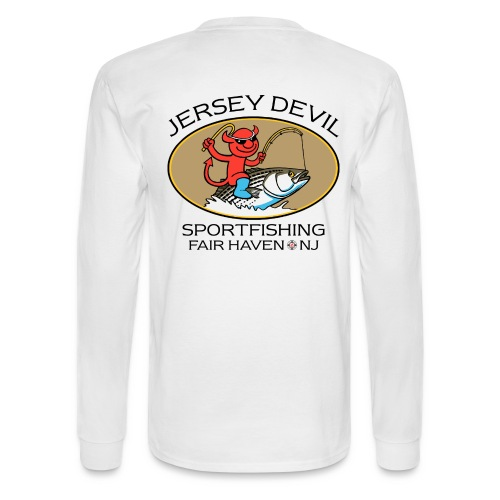 Jersey Devil Men's Long Sleeve White: Striper - Men's Long Sleeve T-Shirt