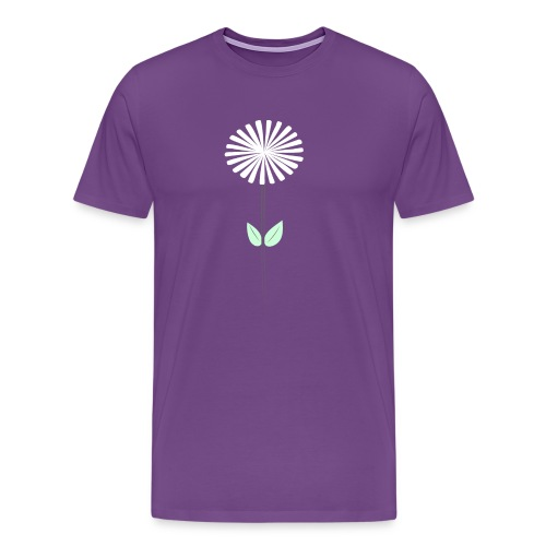 Men's Purple Dandelion Shirt - Men's Premium T-Shirt