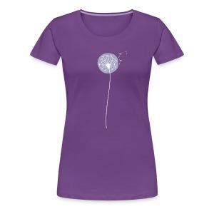 Women's Purple Shadow Dandelion Premium T-Shirt - Women's Premium T-Shirt