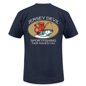Jersey Devil Men's T Navy: Striper - Men's Fine Jersey T-Shirt