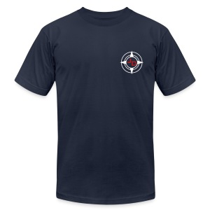 Jersey Devil Men's T Navy: Front GFX - Men's Fine Jersey T-Shirt