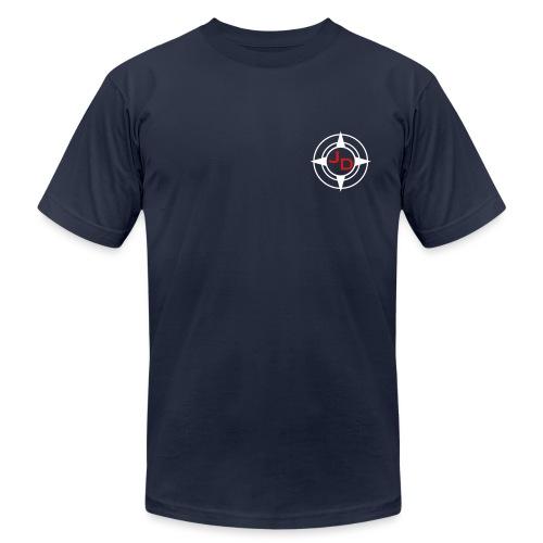 Jersey Devil Men's T Navy: Front GFX - Men's Fine Jersey T-Shirt