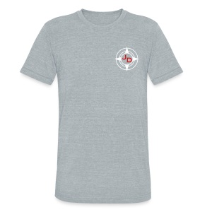 Jersey Devil Unisex American Apparel T-shirt Grey: Front Only - Unisex Tri-Blend T-Shirt by American Apparel