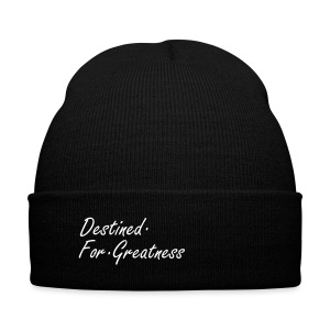 D.F.G Red Skul Cap  - Knit Cap with Cuff Print
