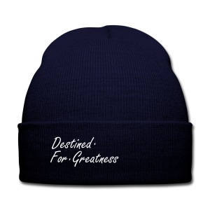 D.F.G Blue Skull Cap  - Knit Cap with Cuff Print