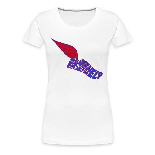 Running for Help Winged Shoe Women's White T-Shirt - Women's Premium T-Shirt