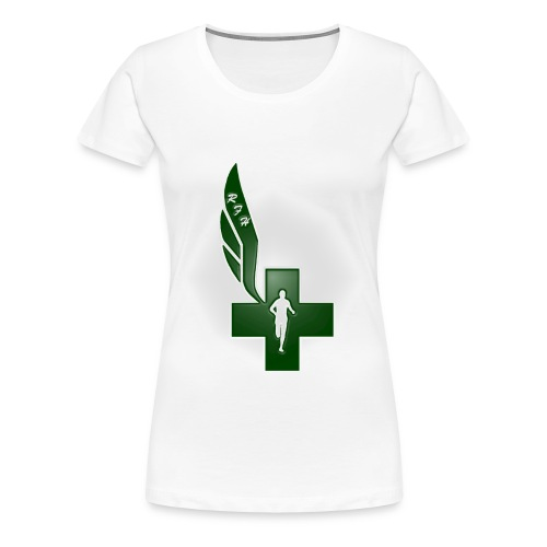 Running for Help Raised Logo Women's White T-Shirt - Women's Premium T-Shirt