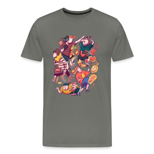 Wreckless Collage Shirt  - Men's Premium T-Shirt