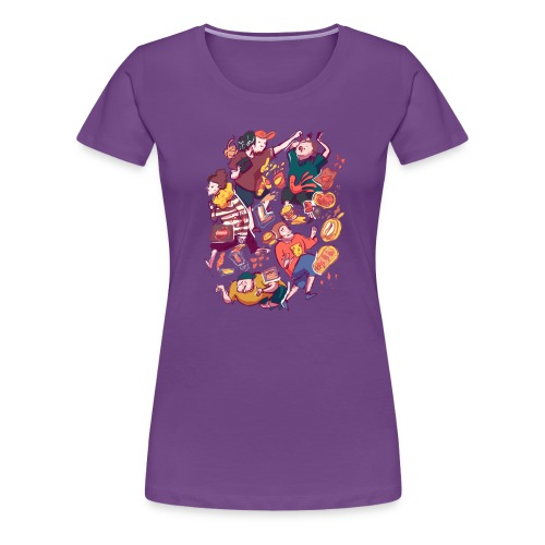 Wreckless Collage Shirt (Women's) - Women's Premium T-Shirt