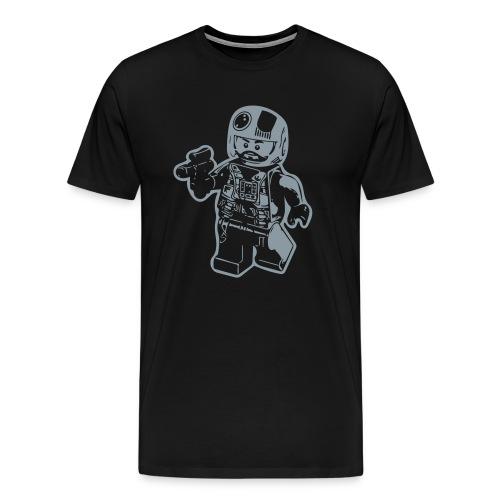 Snappy Brick Pilot T-Shirt - Men's Premium T-Shirt