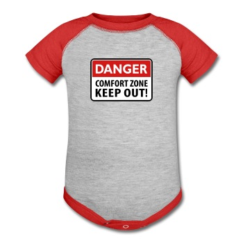 Danger, Keep out zone - Baby Contrast One Piece