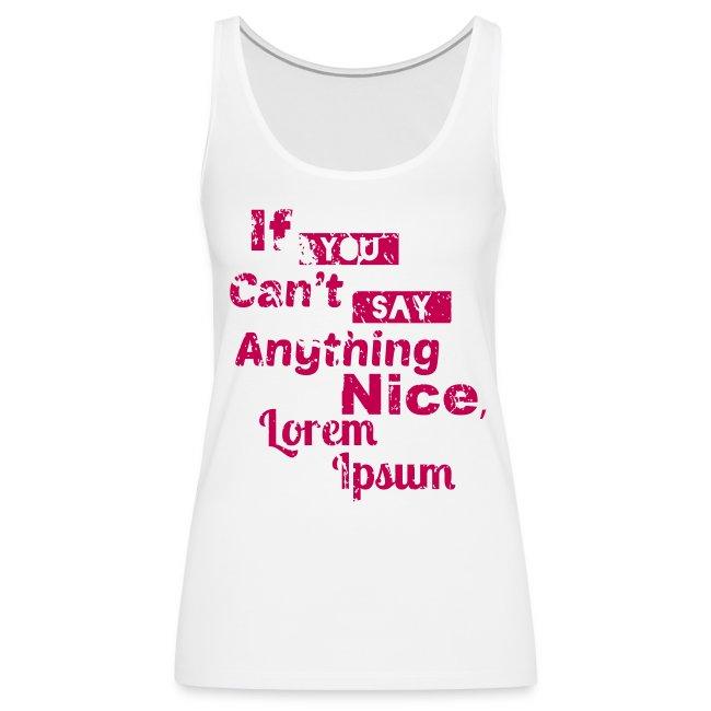 Lorem Ipsum (Tank)