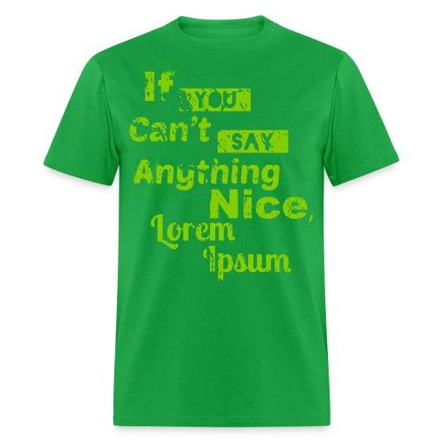 Lorem Ipsum (Plain T) - Men's T-Shirt