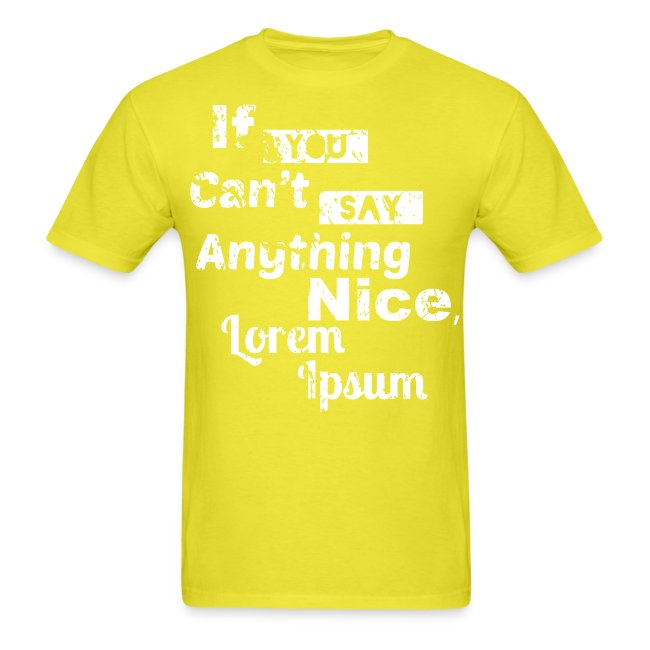 Lorem Ipsum (Plain T)