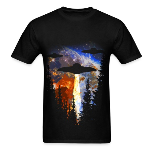 UFOs Over The Woods - Men's T-Shirt