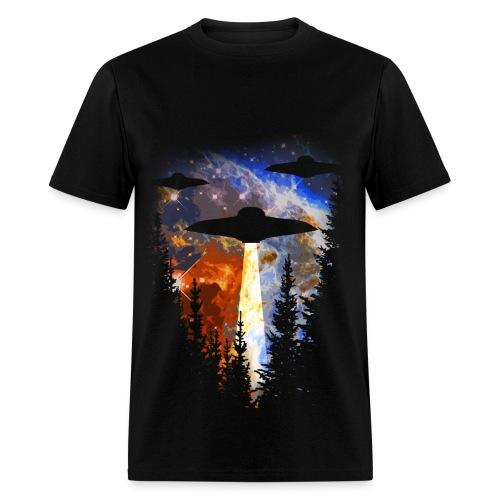 UFOs Over The Woods - Men's T-Shirt