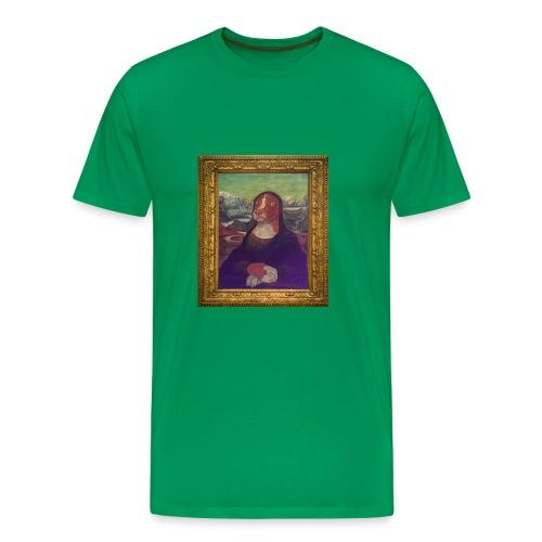 Green Mocha Lisa T-shirt - Men's Premium T-Shirt