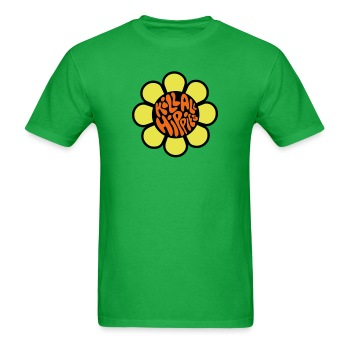 Mens Kill Hippie shirt green - Men's T-Shirt