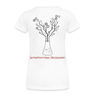 IN Logo Shirt (Back Design) - Women's Premium T-Shirt
