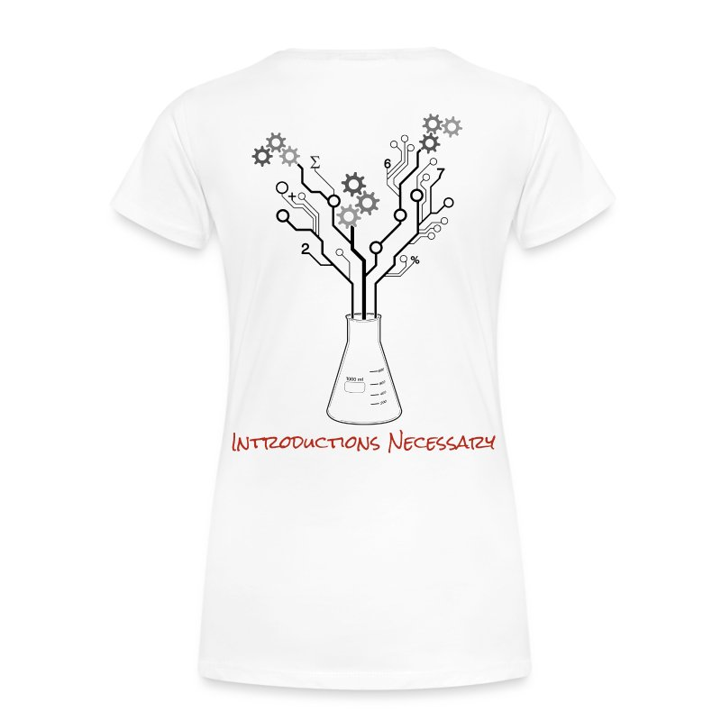 IN Logo Shirt (Back Design) - Women's Premium T-Shirt