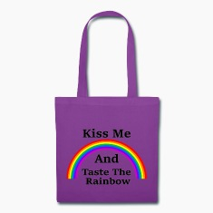 Canvas Tote Bag    Kiss & Taste the Rainbow