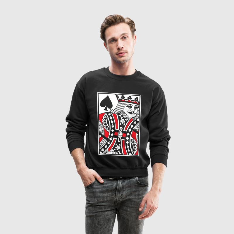 Kings of Spades Playing Card Long Sleeve Shirts - Crewneck Sweatshirt