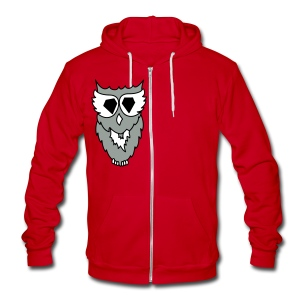 OWL - Unisex Fleece Zip Hoodie by American Apparel