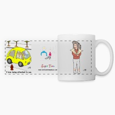 Tina Loves her Pups. She also Loves to Drive Mugs & Drinkware