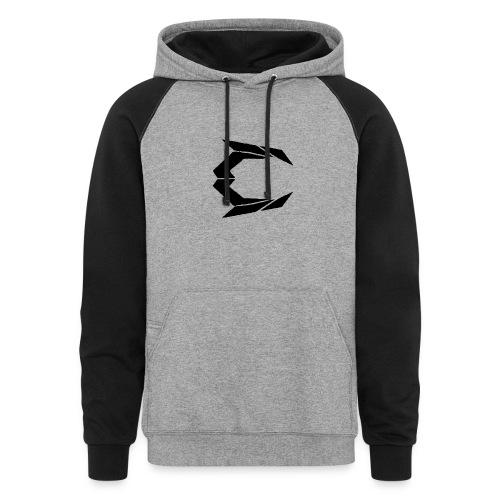Cry Rising Mens hoodie (Black on Gray) - Colorblock Hoodie
