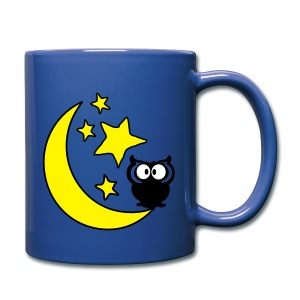 owl in the moon night Full Color Mug - Full Color Mug