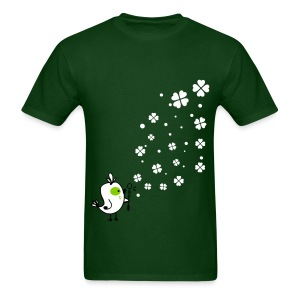 Bird blowing shamrocks Men's T-Shirt - Men's T-Shirt