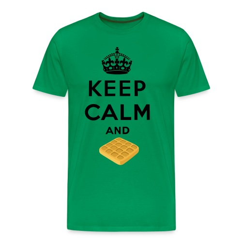 Keep Calm And Waffle Tee - Men's Premium T-Shirt