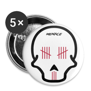 Menace Skull Pins - Large Buttons