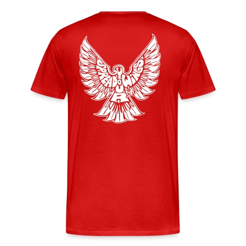 Red Spread your wings t-shirt with logo in the back - Men's Premium T-Shirt