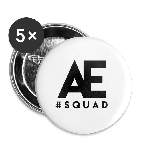 Large ALL EYEZ SQUAD Buttons 5-er Pack. 56mm size. - Large Buttons