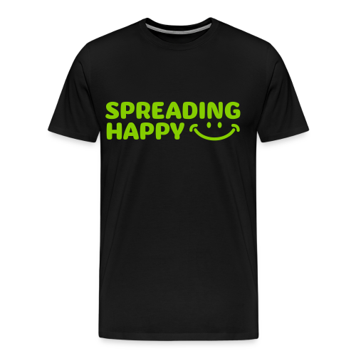 Men's Spreading Happy Black T-Shirt - Men's Premium T-Shirt