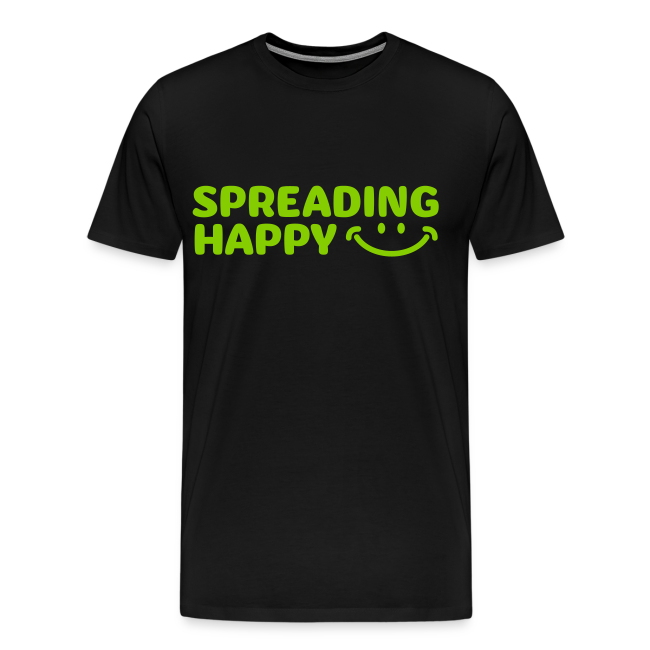 Men's Spreading Happy Black T-Shirt